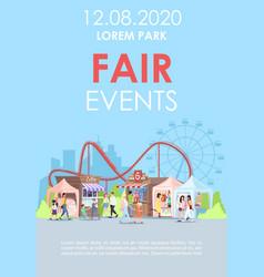 Fair events brochure template amusement park vector