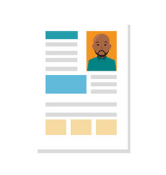 File info with curriculum vitae sheet vector