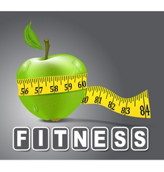 Fitness apple vector