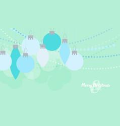 flat christmas balls christmas card vector image