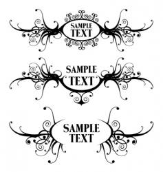 floral design frames vector image