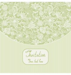 Floral Invitation Template vector