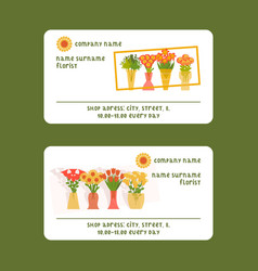 Florists and flower shop for vector