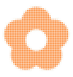flower halftone icon vector image