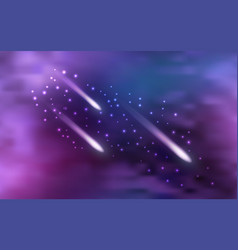 Galaxy space background with shining star nebula vector