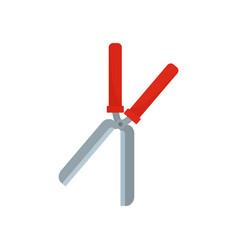 garden scissor icon flat style vector image