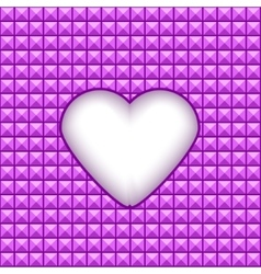Geometric texture with heart in a center vector image