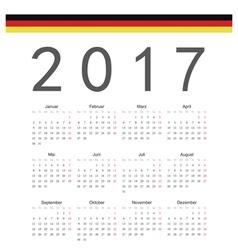 German square calendar 2017 vector
