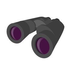 Grey binocular cartoon icon vector