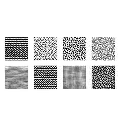 hand drawn patterns doodle design vector image