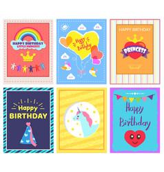 happy birthday positive cards vector image