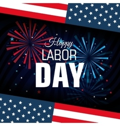 happy labor day poster icon vector image