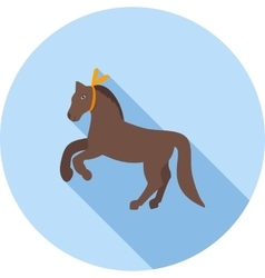 Horse Performing vector image