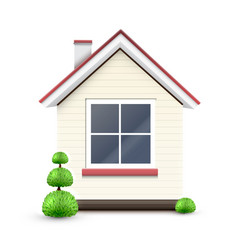 house with a big window vector image