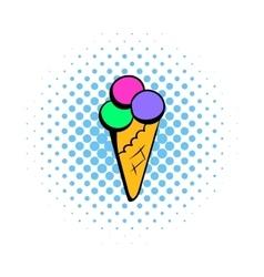 Ice cream comics icon vector image