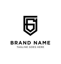 initial g logo design vector image