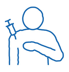 Injection in shoulder icon outline vector