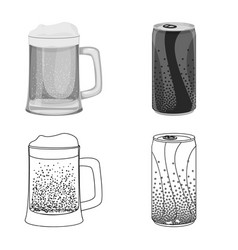 Isolated object of drink and bar logo collection vector