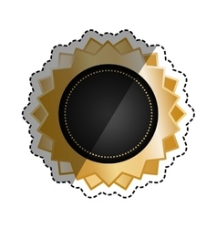 Isolated ribbon award vector image