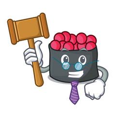 Judge ikura mascot cartoon style vector