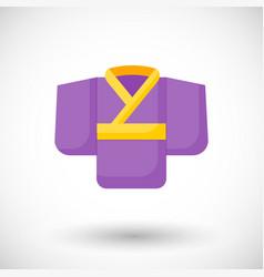 kimono flat icon vector image