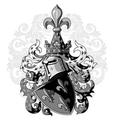 Knightly coat arms heraldic medieval knight vector