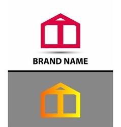 Letter T logo symbol icon vector image