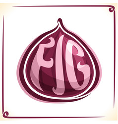 Logo for purple fig vector