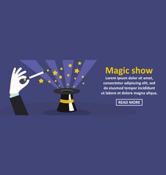 magic show banner horizontal concept vector image