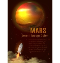 Mars Planet Poster vector image