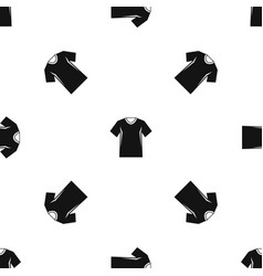 men tennis t-shirt pattern seamless black vector image