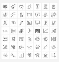 Modern line 49 simple line icons bookshelf vector