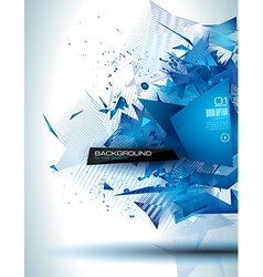 Modern poligonal background for brochure and cover vector image