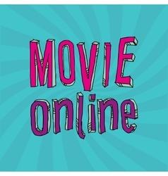 Movie online design vector