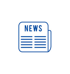 news line icon concept news flat symbol vector image