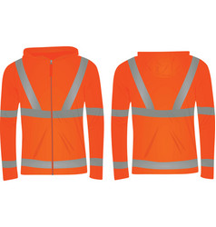 Orange safety jacket vector