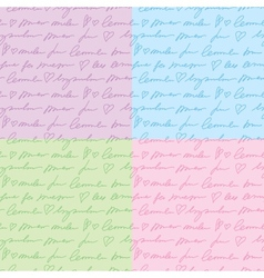 Patterns with hand writing elements vector