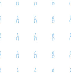pliers icon pattern seamless white background vector image