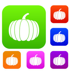 Pumpkin set collection vector