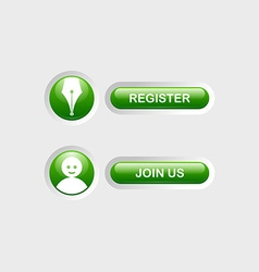 Register and Join Us buttons vector image