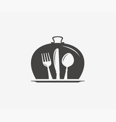 Restaurant logo or symbol diner menu icon vector