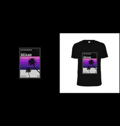 Retrowave miami vhs cassette stylish t-shirt and vector