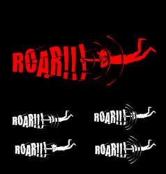 roar symbol concepts vector image