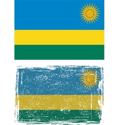 Rwanda grunge flag vector