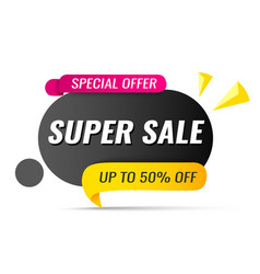 sale banner up to 50 off vector image