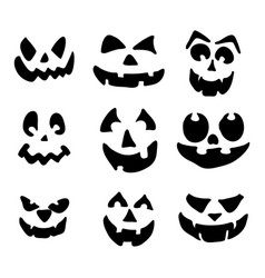scary pumpkin face symbol icon design vector image