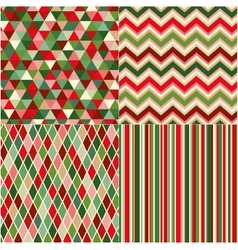 seamless geometric pattern with christmas colors vector image