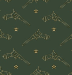 Seamless pattern with revolvers vector