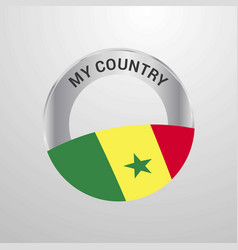 senegal my country flag badge vector image