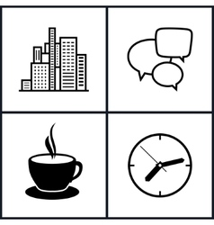 Set Icons Office Work and Business Life vector